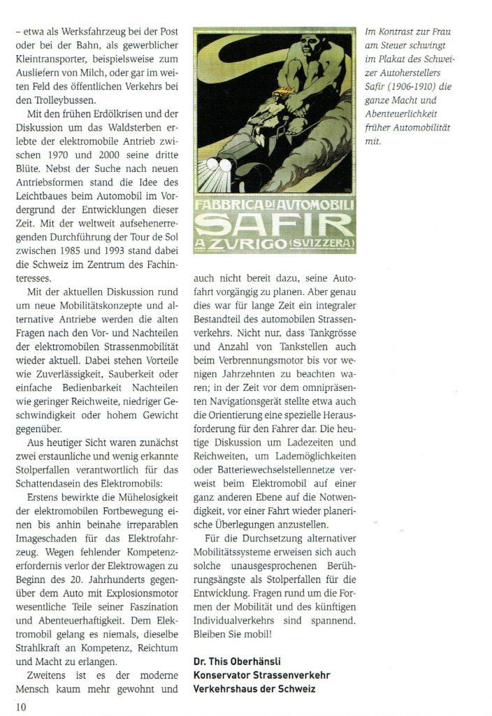 Geschichte des Elektromobils, Tribelhorn, EFAG, NEFAG; This Oberhänsli, Martin Sigrist, www.this-oberhaensli.ch