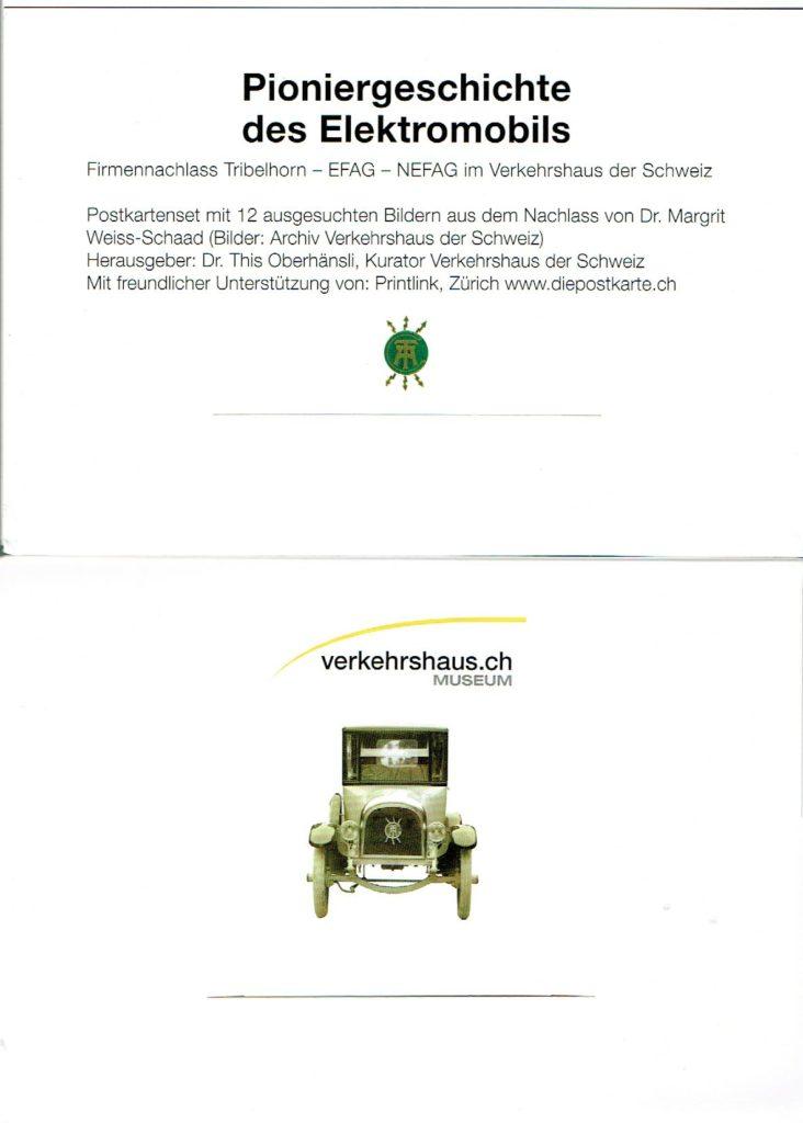 Geschichte des Elektromobils, Tribelhorn, EFAG, NEFAG; This Oberhänsli, www.this-oberhaensli.ch