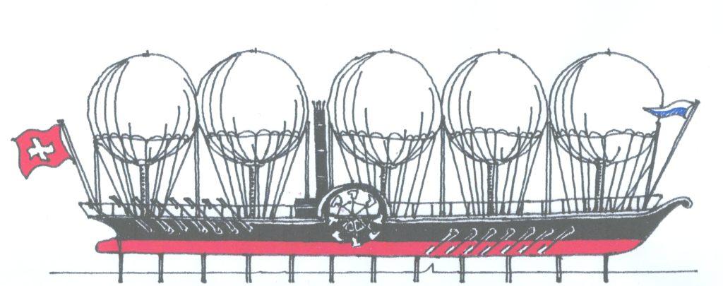 DS Rigi als Steampunk - Objekt. Konzept This Oberhänsli, www.this-oberhaensli.ch